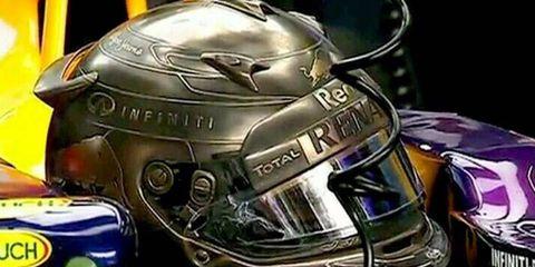 Sebastian Vettel will be wearing a very unique, metal-coated helmet for the Monaco Grand Prix.