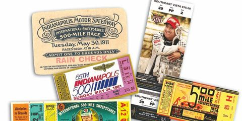 Tickets to the Indianapolis 500 have changed dramatically over the years.