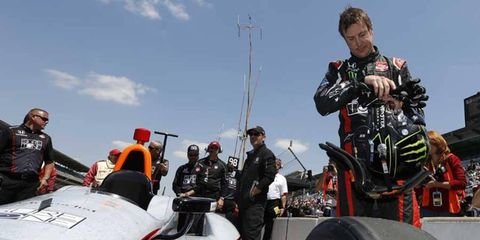 Kurt Busch at qualifying for the 2014 Indianapolis 500.