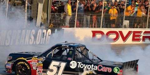 Kyle Busch led 150 of the 200 laps en route to the win at Dover on Friday.