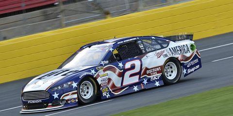 Brad Keselowski won the pole for Sunday's NASCAR Sprint Cup race.