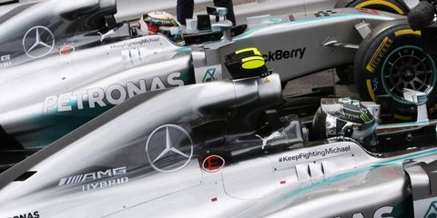Lewis Hamilton addressed rumors that there was a rift between he and Mercedes teammate Nico Rosberg on Friday.