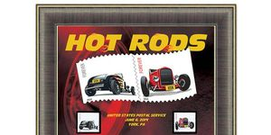 Hot rods have been leading the youth into delinquency for decades, but this USPS stamp set represents an important first step toward respectability.