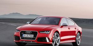 The 2015 Audi RS7 Sportback gets a turbocharged V8.