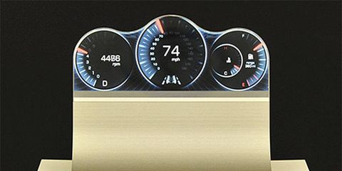 No more square LCD screens. Car gauges might never look the same.