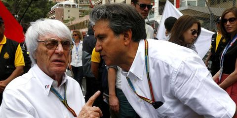 Bernie Ecclestone says his resignation from F1 board is disrupting Formula One.