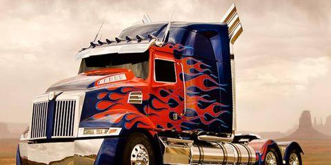 Optimus Prime is doing only three days of limo duty. And then he has to go and kick some ass in the film.