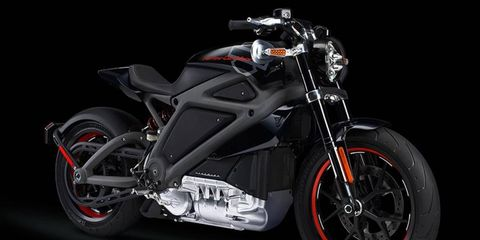 This is the LiveWire, Harley-Davidson's first electric motorcycle.