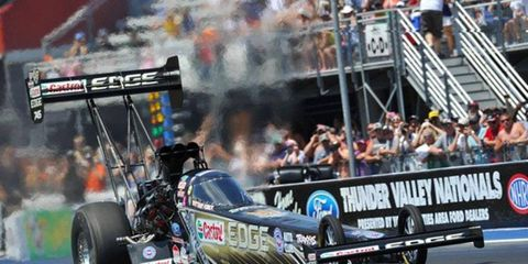 Brittany Force was the fast qualifier in the NHRA Top Fuel class at Bristol.