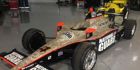Panther Racing is selling several items on eBay, including J.R. Hildebrand's chassis from the 2011 Indy 500.