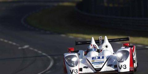 The Zytek Z11SN-Nissan of Thomas Kimber-Smith (GBR), Chris Dyson (USA) and Matt McMurry (USA) at Le Mans.