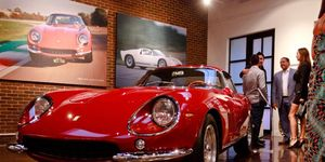 The photo on the wall was taken at Fiorano, when Ferrari crew shook the 275 down after a lengthy restoration.