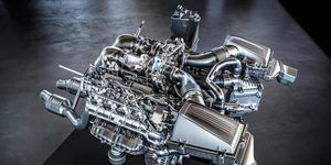 The new Mercedes AMG GT supercar will get a twin-turbo V8 making 503 hp and 479 lb-ft of torque.