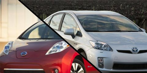 Nissan plans to build only EVs, Toyota hybrids.