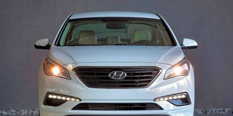 The 2015 Hyundai Sonata Eco is rated at 38 mpg on the highway.