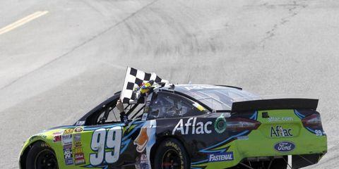 Carl Edwards won the NASCAR Sprint Cup race in Sonoma on Sunday.