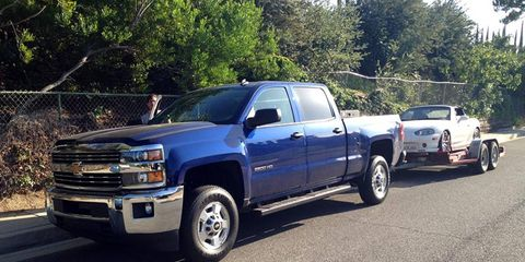 The Chevrolet Silverado 2500 HD could probably tow 15 more of these.