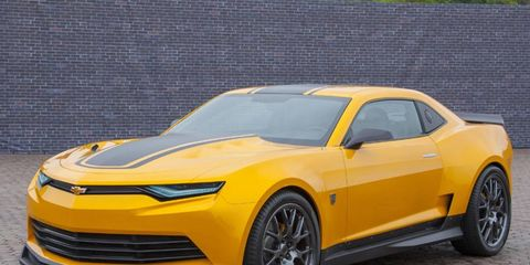 A custom Camaro will play Bumblebee in the next transformers.