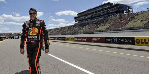 NASCAR Sprint Cup star Tony Stewart is 43 years old.