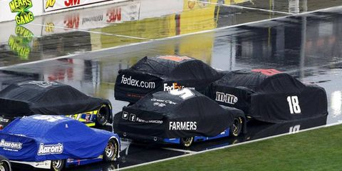 NASCAR Sprint Cup officials called Sunday's  race early after rain made things difficult all week.