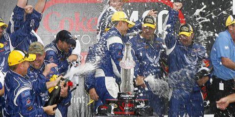 Aric Almirola won the NASCAR race at Daytona on Sunday.