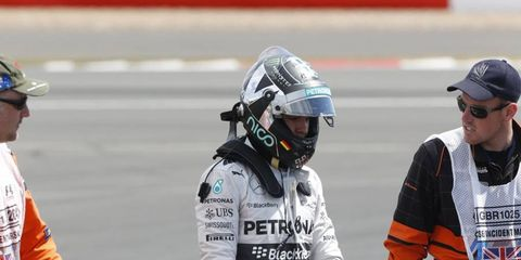 Nico Rosberg was forced to retire from Sunday's race with a gearbox issue. Despite the disappointment, Rosberg was upbeat.