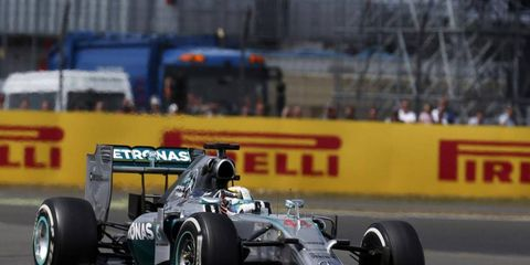 Lewis Hamilton drove to another Mercedes victory on Sunday in the British Grand Prix.