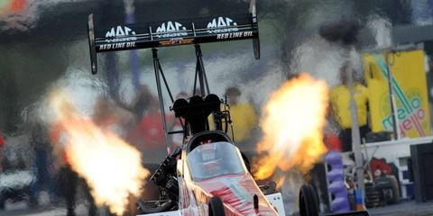Doug Kalitta led the way in NHRA qualifying on Friday in the Top Fuel division.