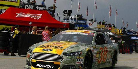 David Gilliland won the pole for Saturday's NASCAR Sprint Cup race at Daytona.