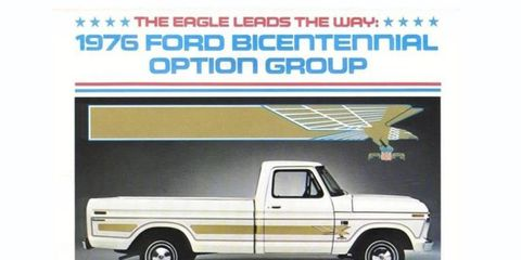 The Bicentennial edition featured a golden eagle motif over white or blue base colors.
