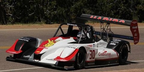 Romain Dumas raced to the overall win at the Pikes Peak International Hill Climb.