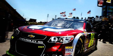 Jeff Gordon has a 12-point lead on Dale Earnhardt Jr. in the NASCAR Sprint Cup Series points race.