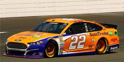 Joey Logano, already safely in the Chase, is the top-starting Ford driver for Sunday's NASCAR Sprint Cup Series race at New Hampshire Motor Speedway. Logano starts sixth.