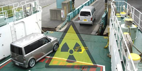 Cars come into eastern ports by ferry. But by the time they reach Central Asia, it's more difficult to detect them.