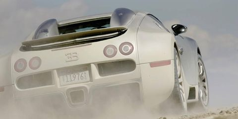 Expect the Veyron successor to stomp across deserts at frighteningly high speeds.