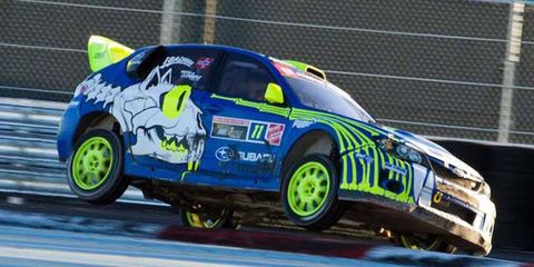 The Red Bull Global Rallycross series has traded a Detroit event for a doubleheader in Los Angeles in 2014.