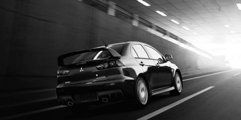 Contrary to what this picture depicts, the Evo is not rolling off into the sunset, yet.