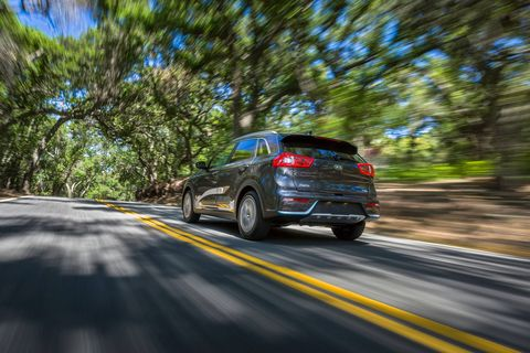 The 2018 Kia Niro PHEV delivers 139 hp combined using its four-cylinder engine and electric motor.