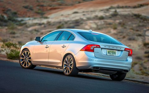 The Volvo S60 T6 Platinum punches way above its 2.0 liters and it's smooth and fuel-efficient to boot.