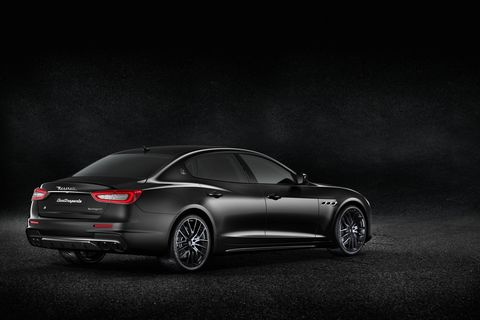 The Maserati Quattroporte, Levante and Ghibli all received the blackout treatment at the Geneva auto show.