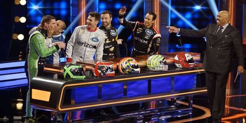 """A group of IndyCar drivers will be competing on """"Celebrity Family Feud"""" this month."""