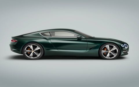 Bentley pulled the covers off the EXP 10 Speed 6 concept at the 2015 Geneva motor show. According to Bentley, the fastback two-door could hint at a future sports car.