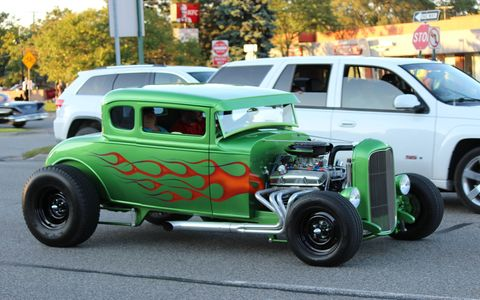 Thursday night before the Woodward Dream Cruise 2014