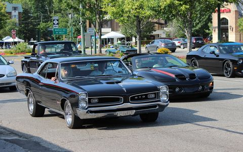 This Pontiac GTO was spotted cruising Woodward Ave.