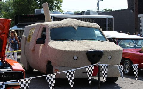 "We're not sure this is THE car from ""Dumb and Dumber,"" but we hope it is."