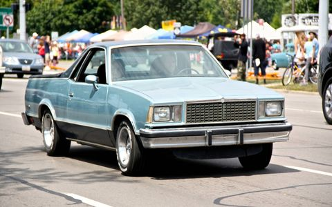 One of several El Caminos we saw over the weekend on Woodward.