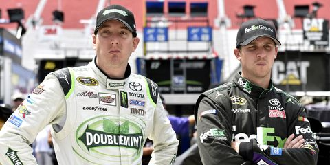 Denny Hamlin said that teammate Kyle Busch, who is currently not competing in NASCAR because of injury, could gain a new perspective while away from the sport.