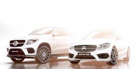 Mercedes-Benz's first two AMG Sport models will be shown at the Detroit Auto Show in January.