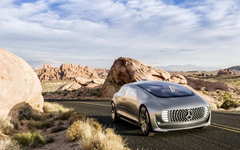 The Mercedes F015 from CES can drive in the desert, too.