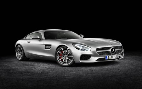 The 2016 Mercedes-Benz AMG GT S has a 503-hp V8.